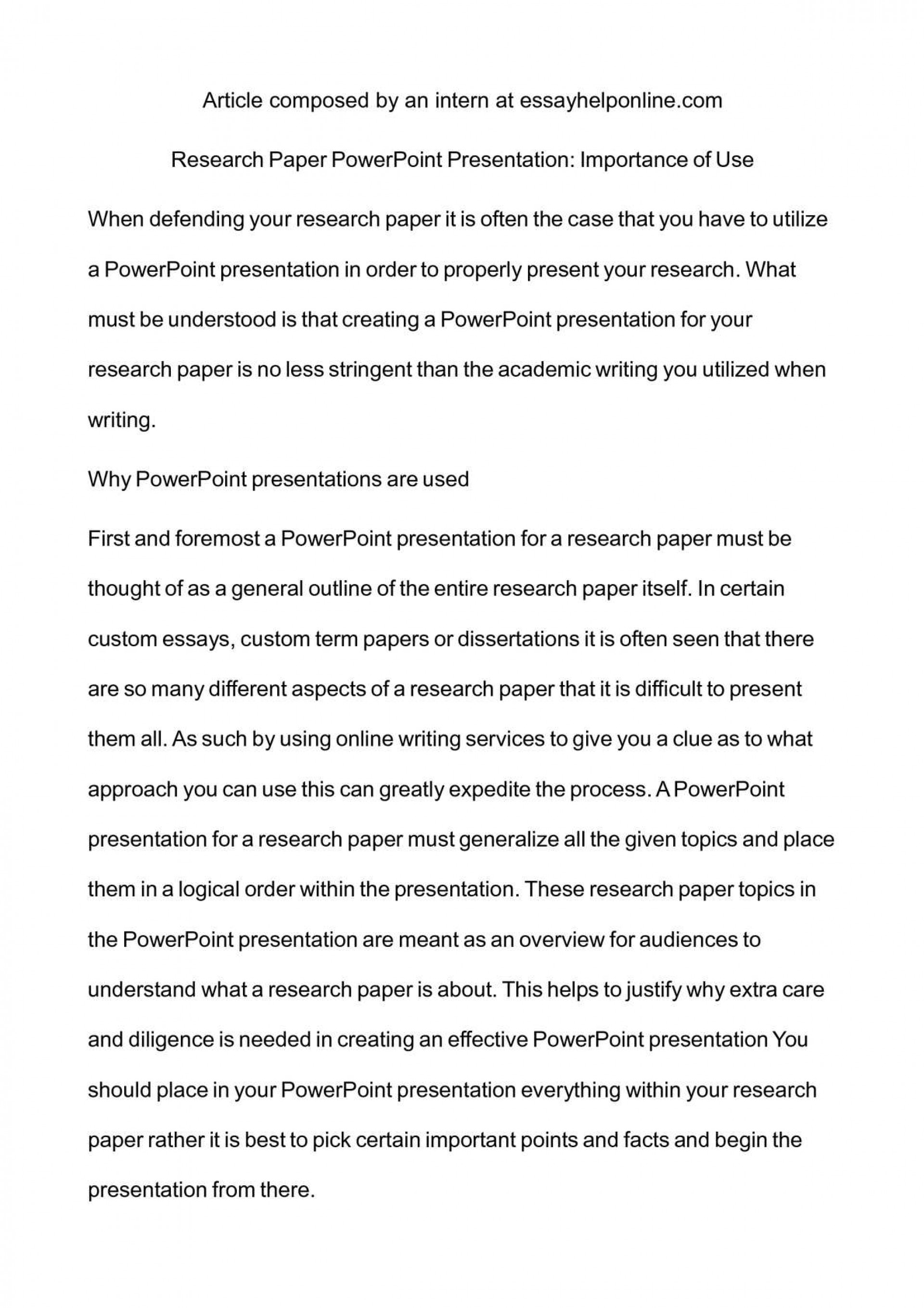 004 How To Research Paper Ppt Outstanding Write A Powerpoint Presentation Writing Scientific Make 1920
