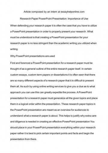 004 How To Research Paper Ppt Outstanding Read Make A Powerpoint Presentation Write Discussion In 360