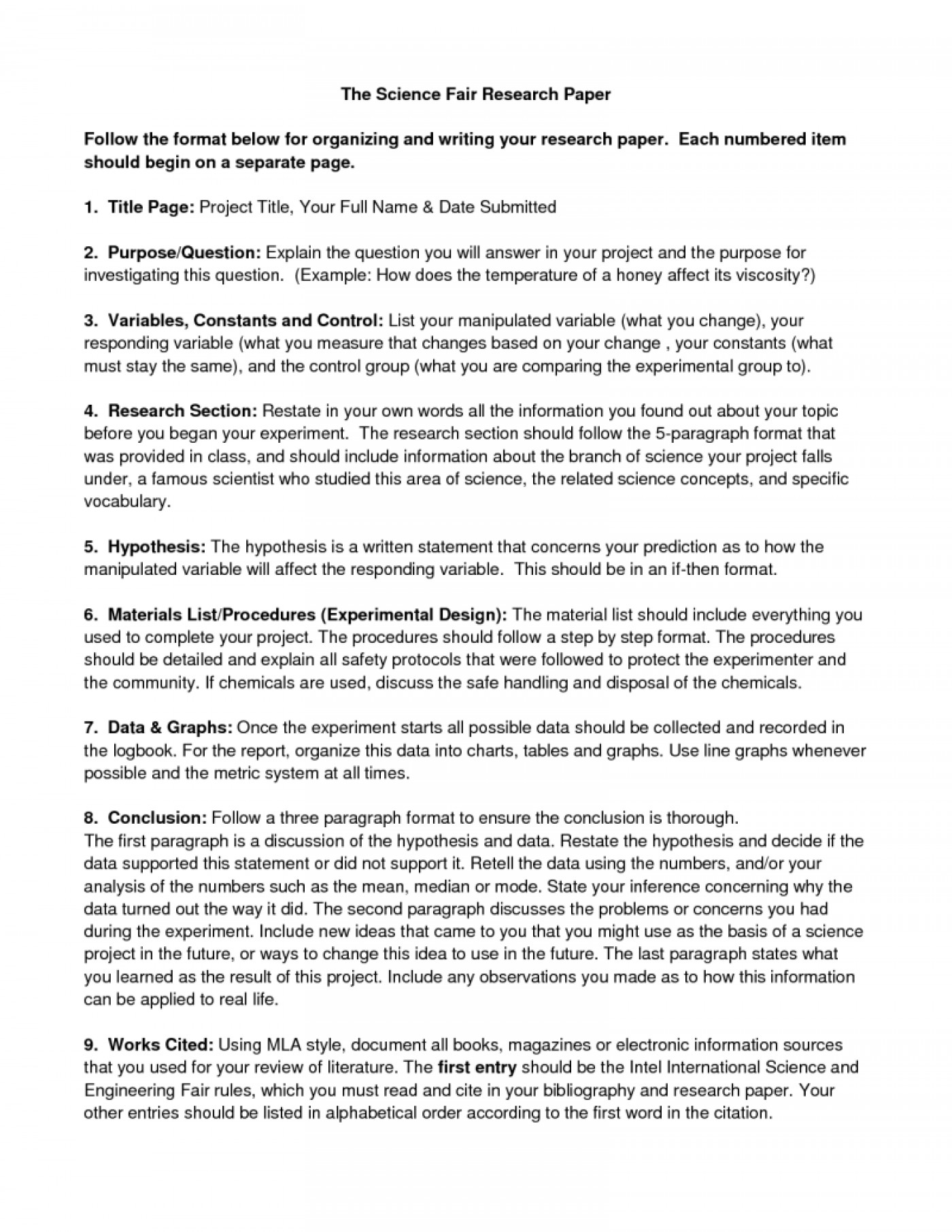004 Ideas Of Science Fair Research Paper Outline Unique Political Guidelines Guidelinesresize8002c1035 How To Write Unforgettable A For High School 1400