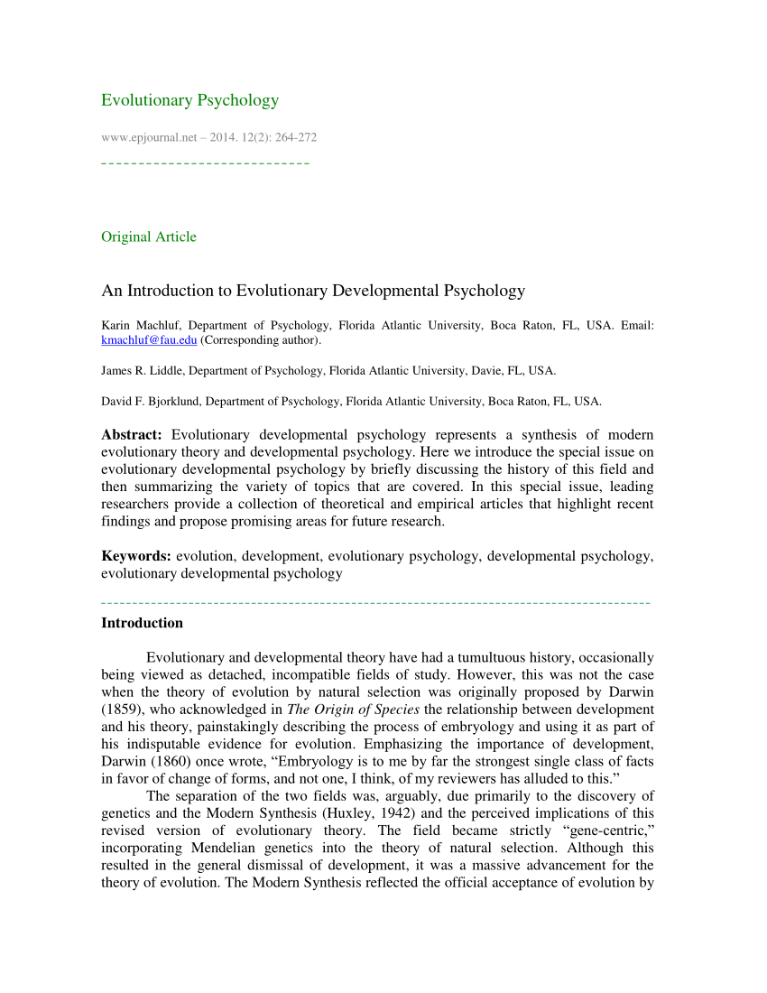004 Introduction To Developmental Psychology Research Paper Unique Full