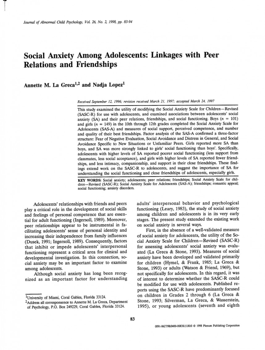 004 Largepreview Psychology Research Paper On Social Anxiety Staggering Disorder 868
