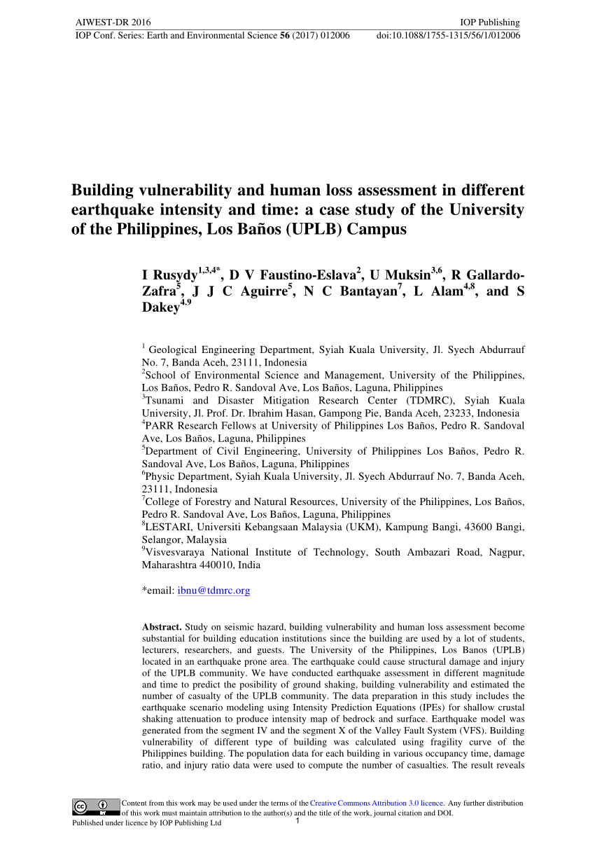 004 Largepreview Research Paper Earthquake Pdf Wondrous Philippines Full
