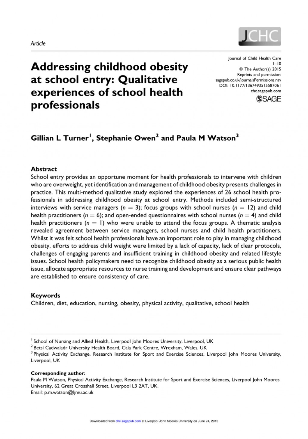 004 Largepreview Research Paper Nursing Articles On Childhood Stirring Obesity Large