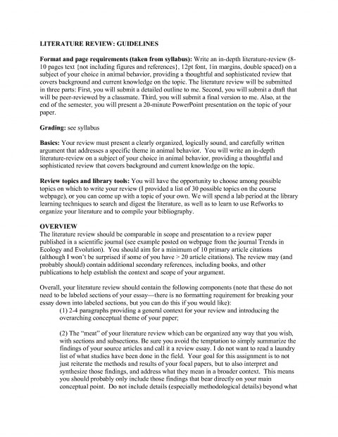 002 Literature Review Research Paper Format Sample 393047