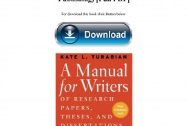 004 Manual For Writers Of Researchs Theses And Dissertations 8th Edition Pdf Page 1 Magnificent A Research Papers