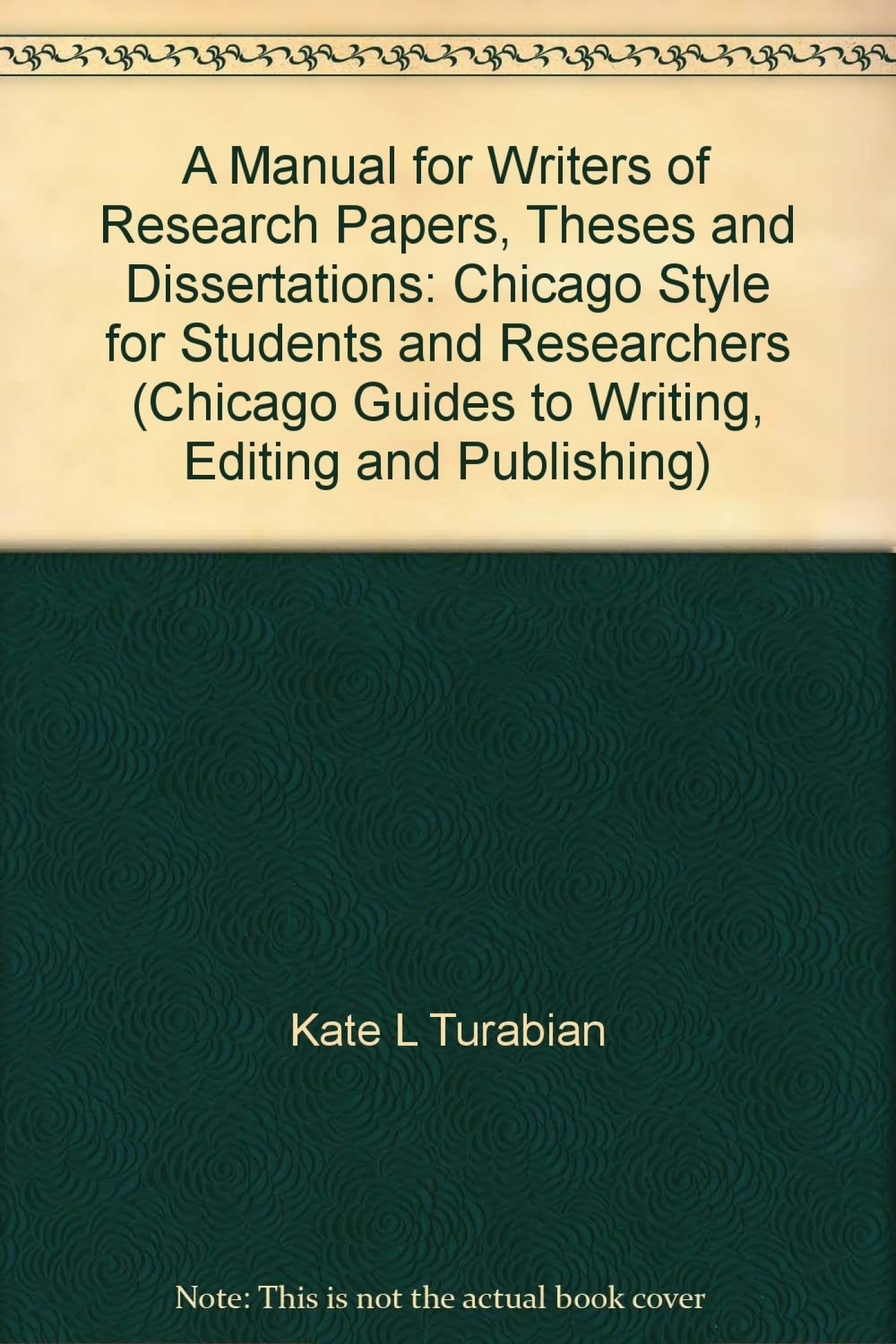 Chicago turabian citation dissertation
