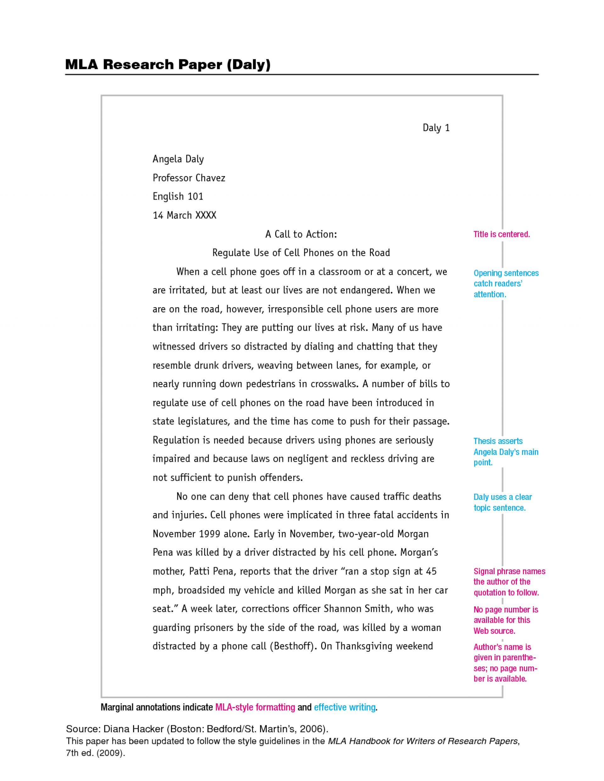 004 Mla Format Research Paper Example 201257 Unforgettable Title Page Outline Daly 1920
