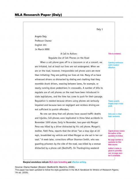 004 Mla Format Research Paper Example 201257 Unbelievable In Style With Title Page Outline 480