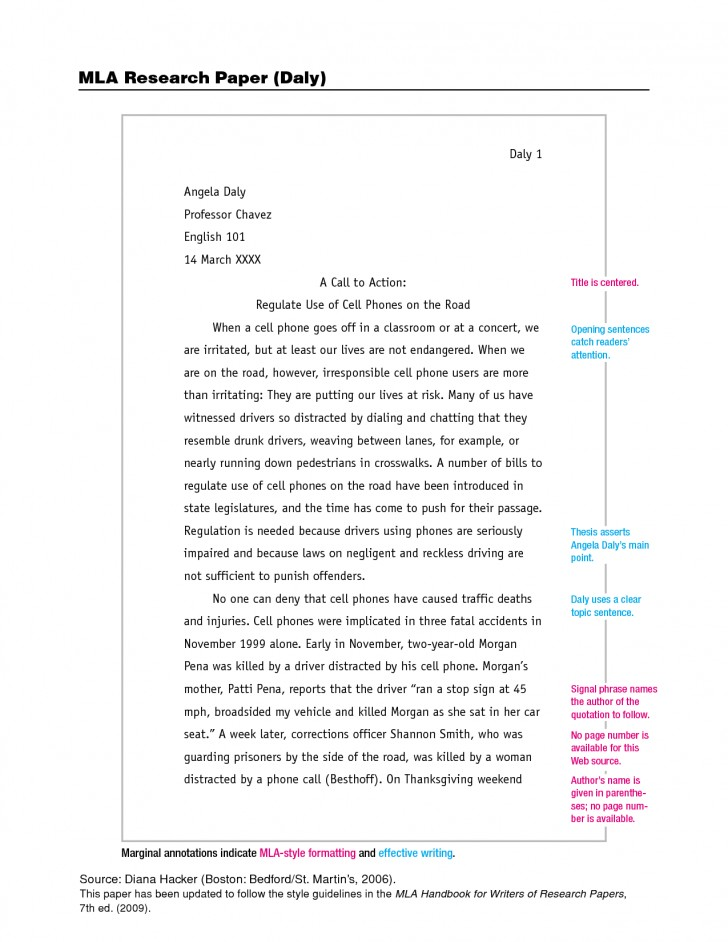 004 Mla Format Research Paper Example 201257 Unbelievable In Style With Title Page Outline 728