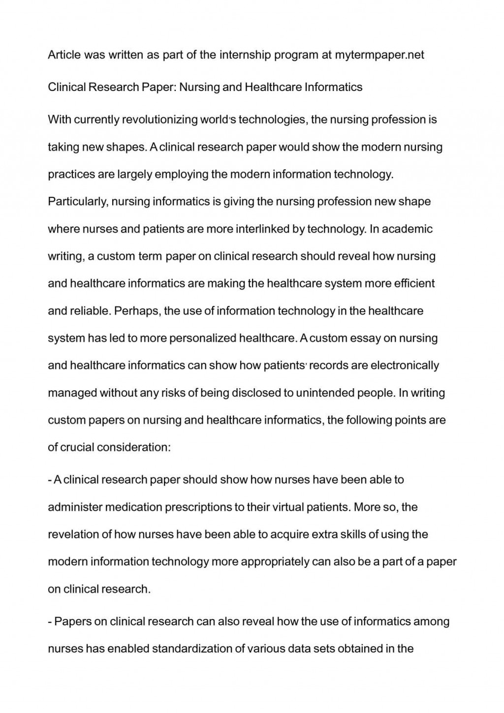 004 P1 Research Paper On Wondrous Nursing Topics Peer Reviewed Articles Shortage For Large