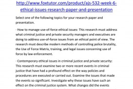 004 Page 1 Criminal Justice Ethics Research Paper Fantastic Topics