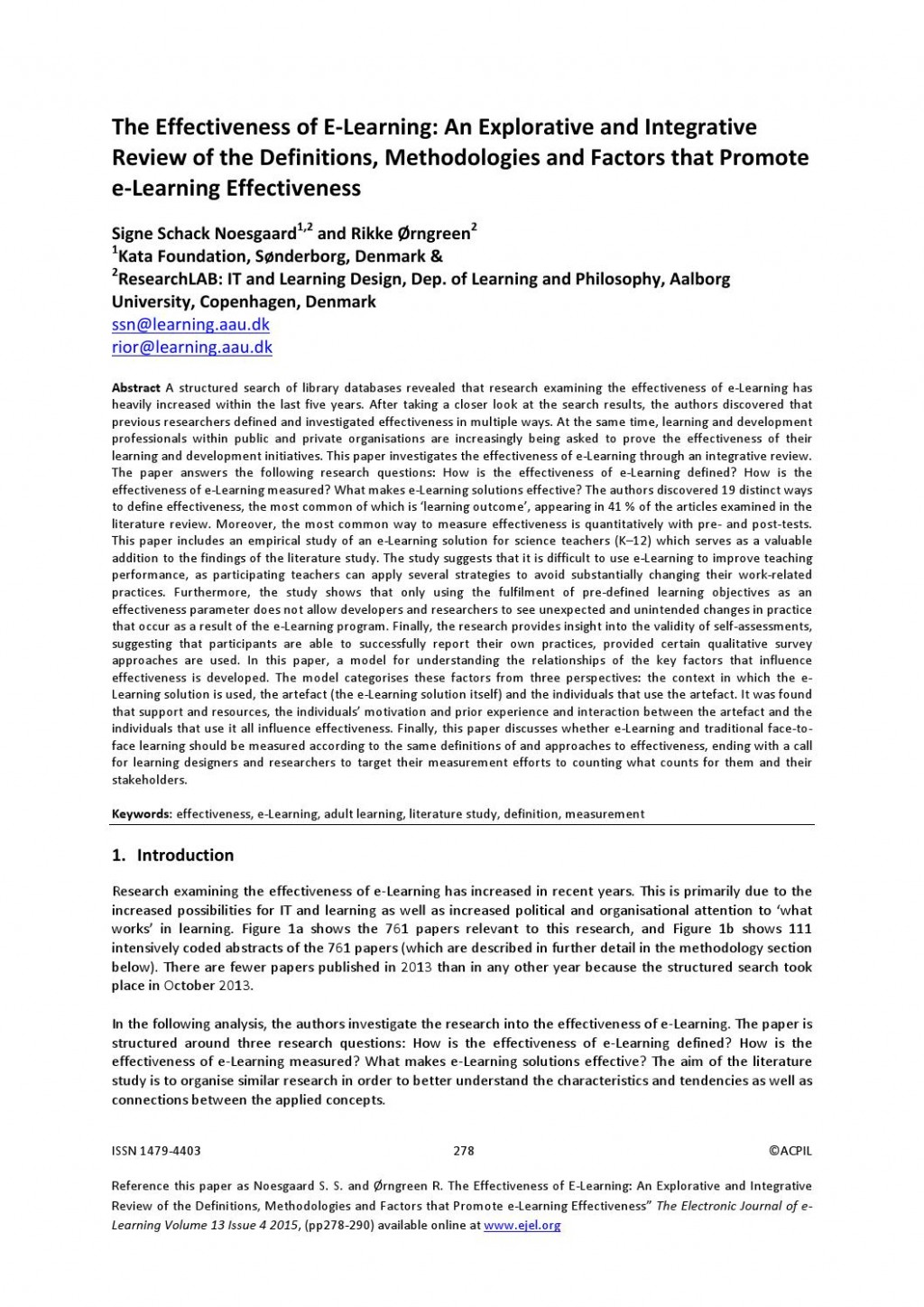 004 Page 1 Effectiveness Of Online Education Research Amazing Paper Large