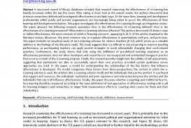 004 Page 1 Effectiveness Of Online Education Research Amazing Paper