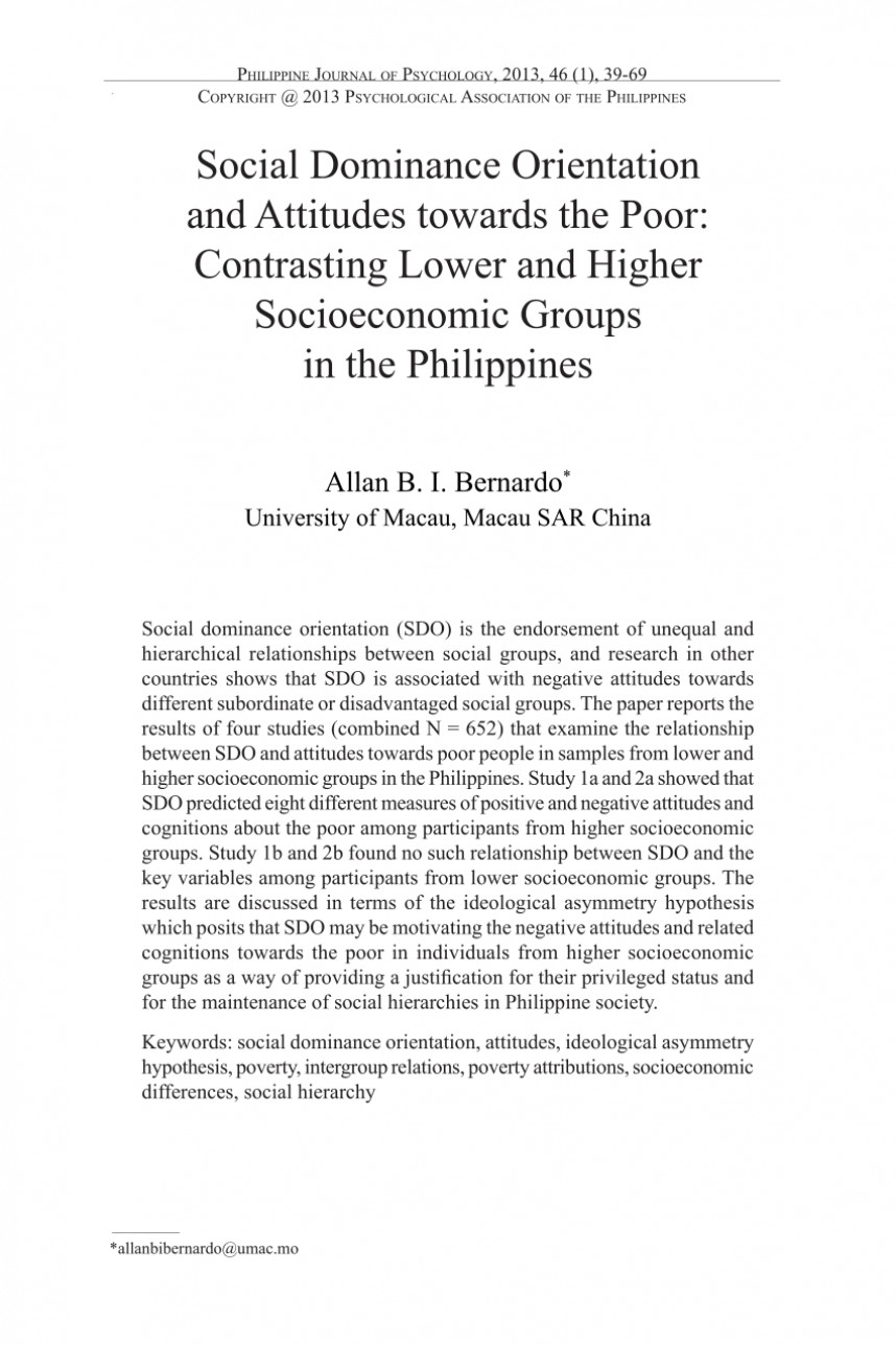 004 Poverty In The Philippines Research Paper Pdf Impressive 868