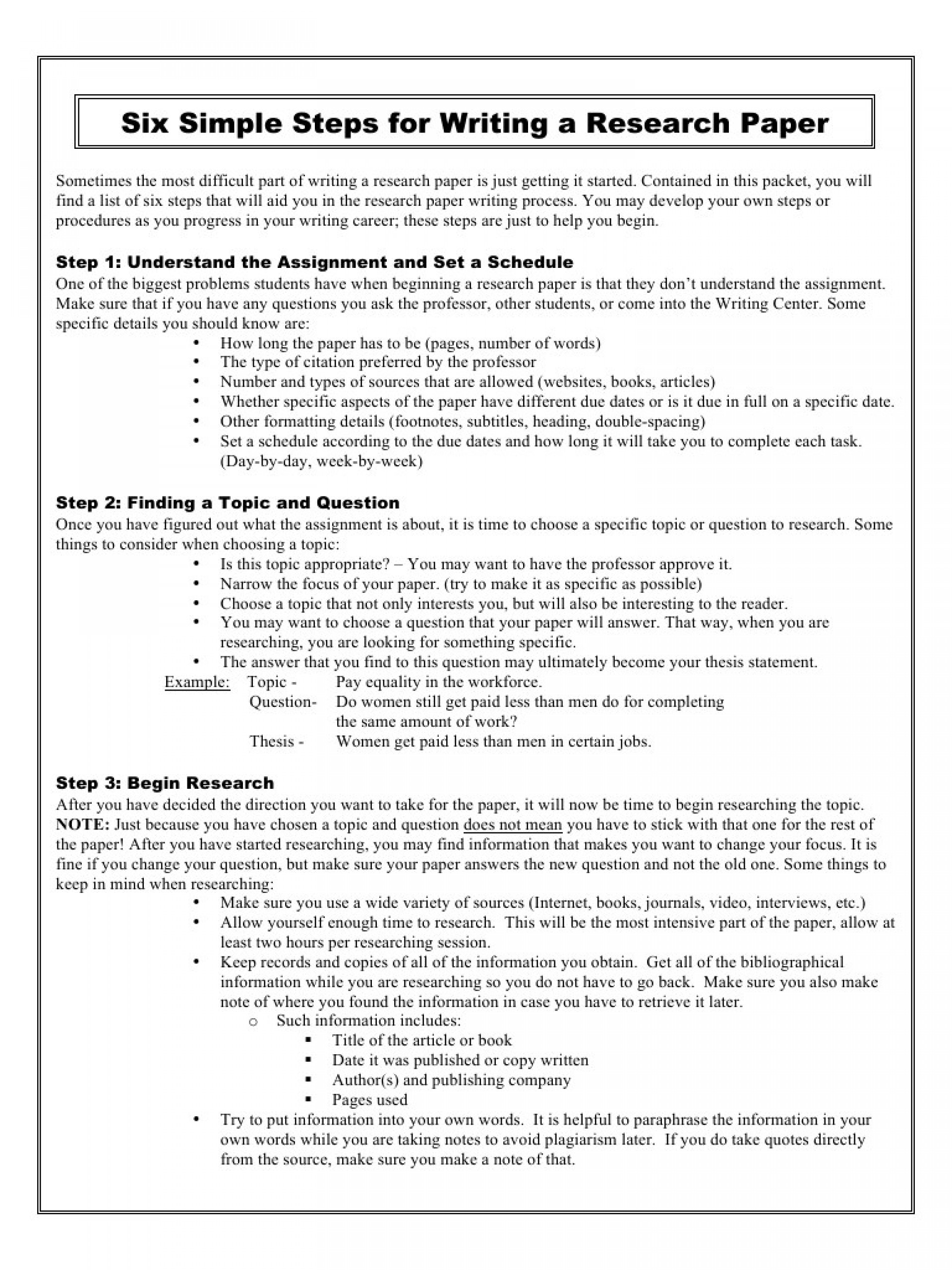 004 Preview Simple Steps For Writing Research Paper Example Of Fantastic A Pdf 1920
