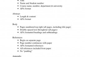 004 Proper Order Of Sections Research Paper In Apa Marvelous A Format 320