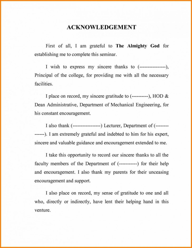 003 Research Paper Acknowledgement For Definition