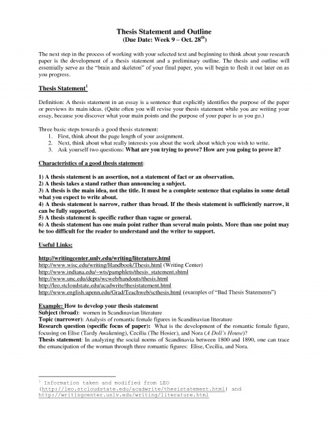 004 Research Paper Autism Thesis Statements Statement And Outline Template Awful 480