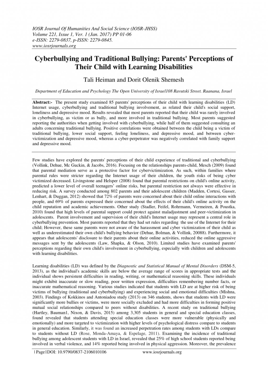 004 Research Paper Cyberbullying Pdf Unique Effects Of Large