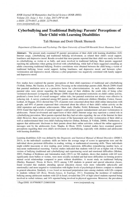 004 Research Paper Cyberbullying Pdf Unique Effects Of 480