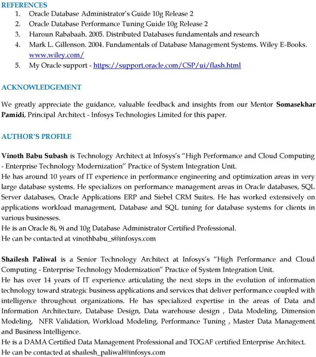 004 Research Paper Database Management Topics Page 14 Amazing On System Large