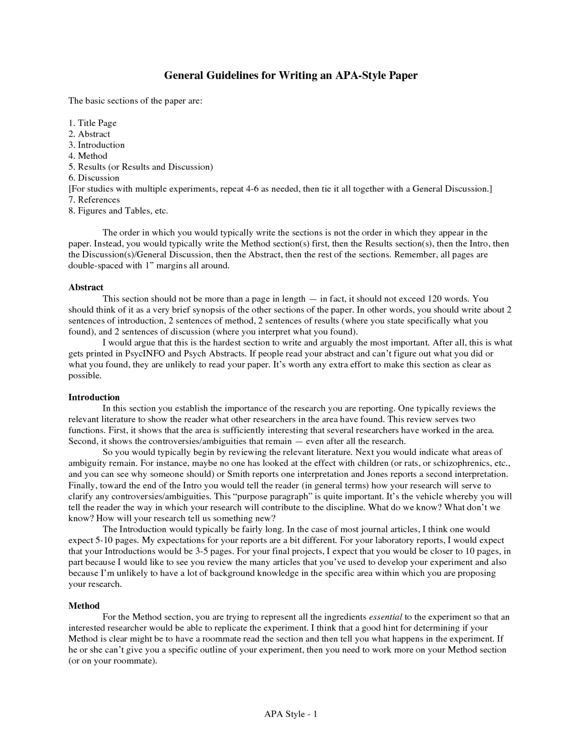 004 Research Paper Discussion Section Of Apa Sensational A Apa-style How To Write The 1920