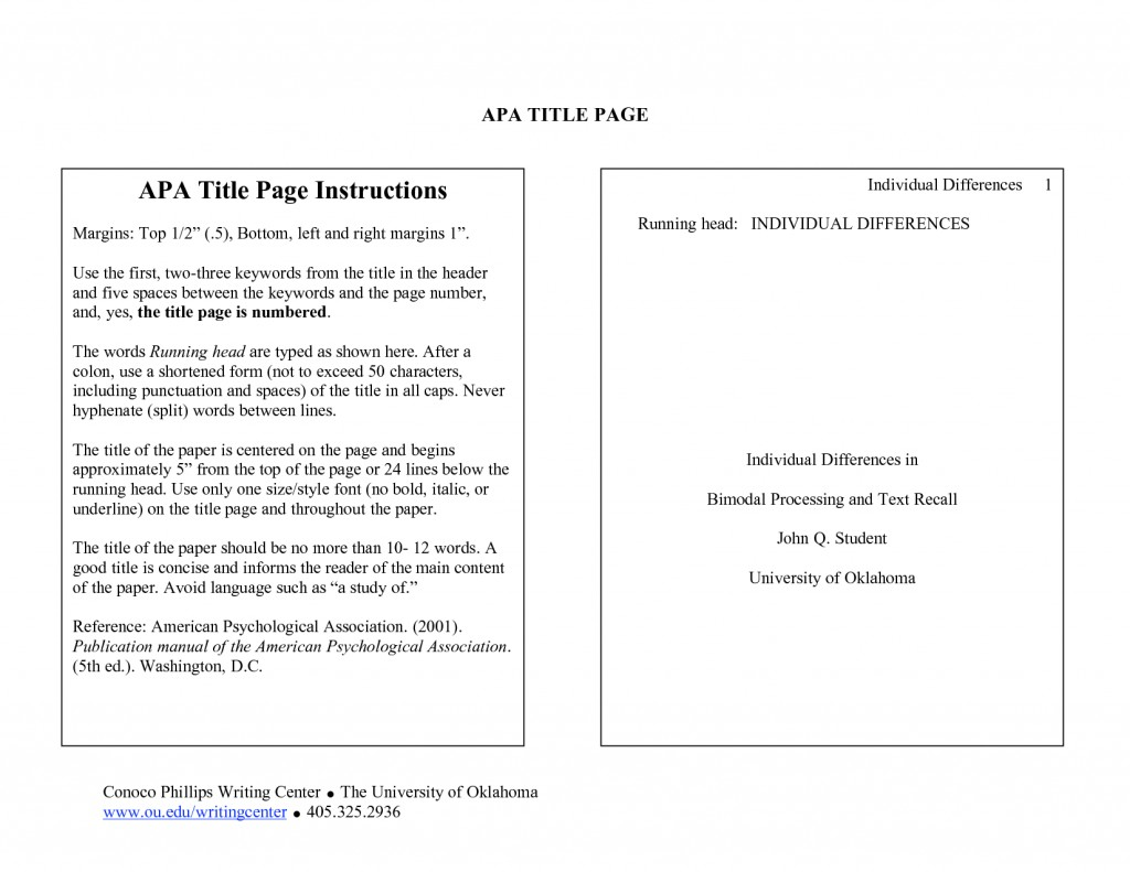 004 Research Paper Example Cover Page For Apa Unique Style Sample Title Format Large