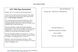 004 Research Paper Example Cover Page For Apa Unique Style Sample Title Format