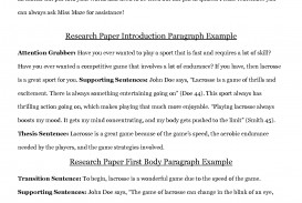 004 Research Paper Example Of College Incredible Level Mla Format Outline Sample Academic