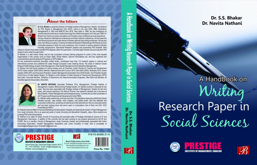 004 Research Paper Handbook On Writing In Social Sciences Stunning A Large