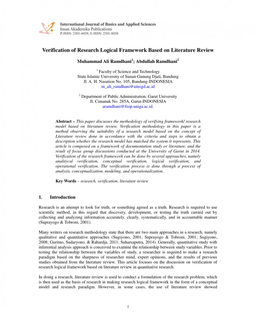 004 Research Paper How To Write Based On Literature Review Impressive A Pdf Qualitative