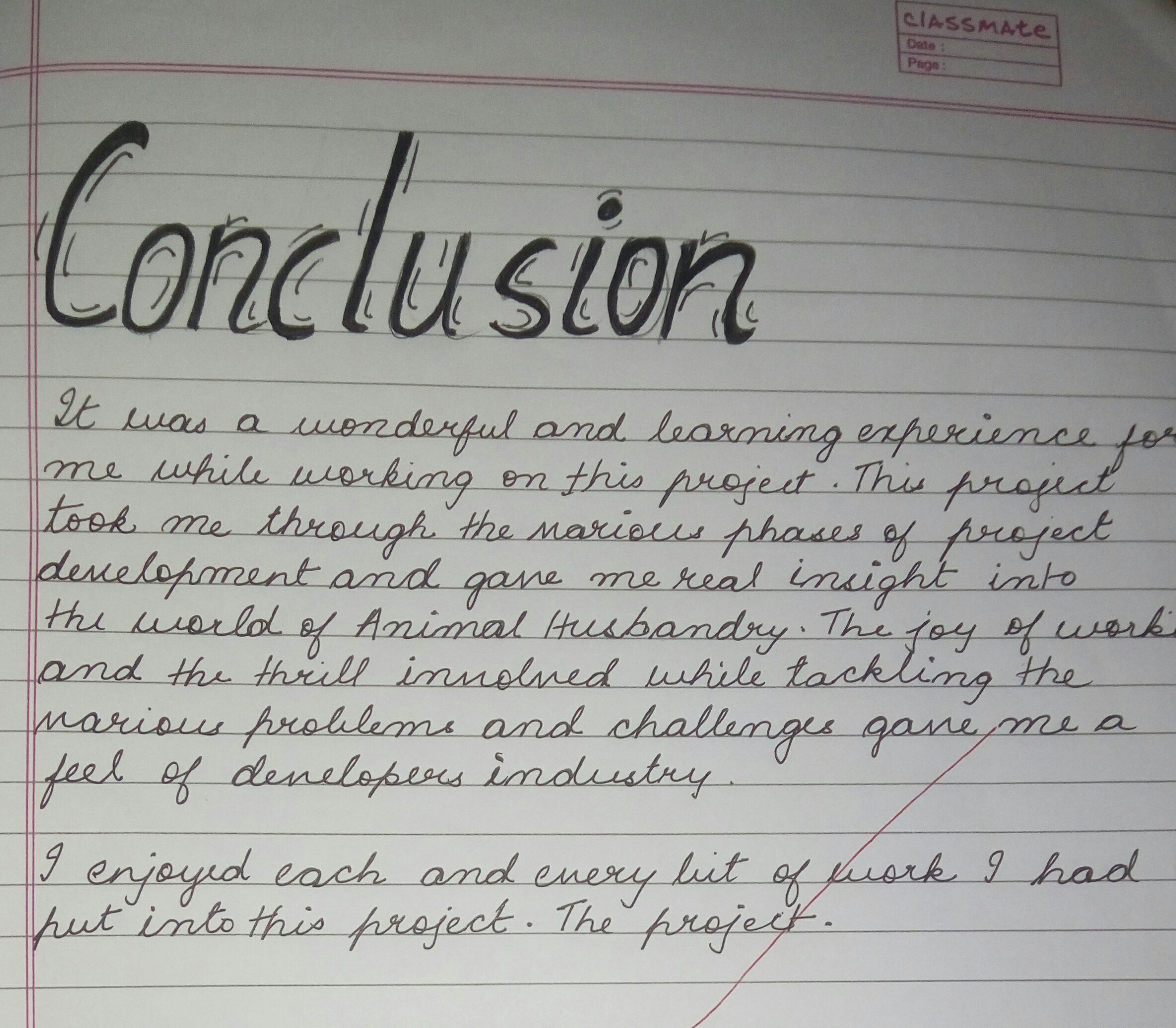 how to write a conclusion example