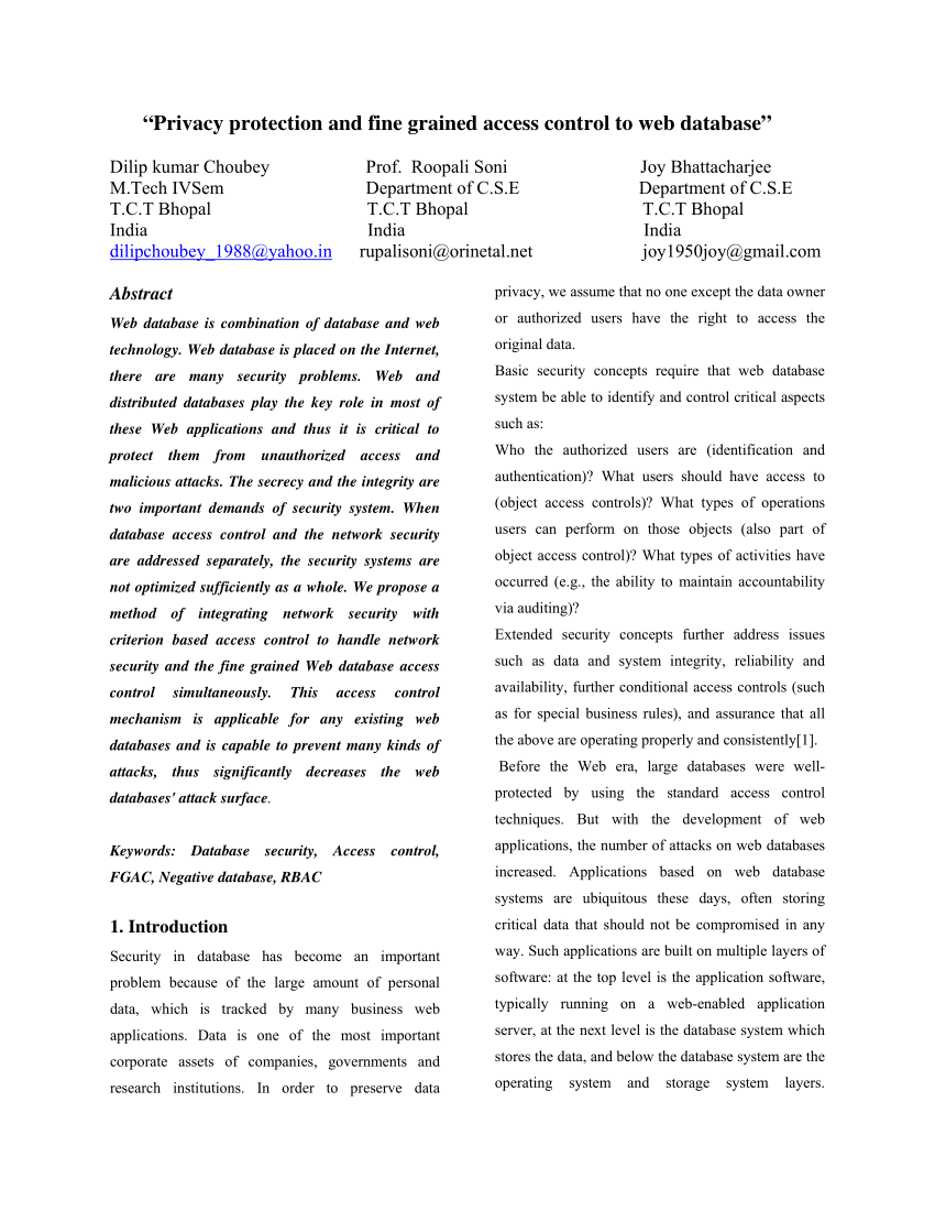 004 Research Paper Largepreview Database Striking Security - Draft Papers Pdf Related Full