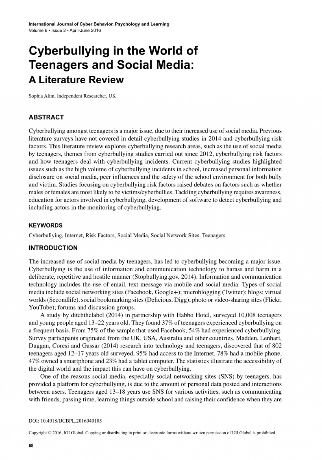 004 Research Paper Largepreview Introduction For Shocking Cyberbullying Large