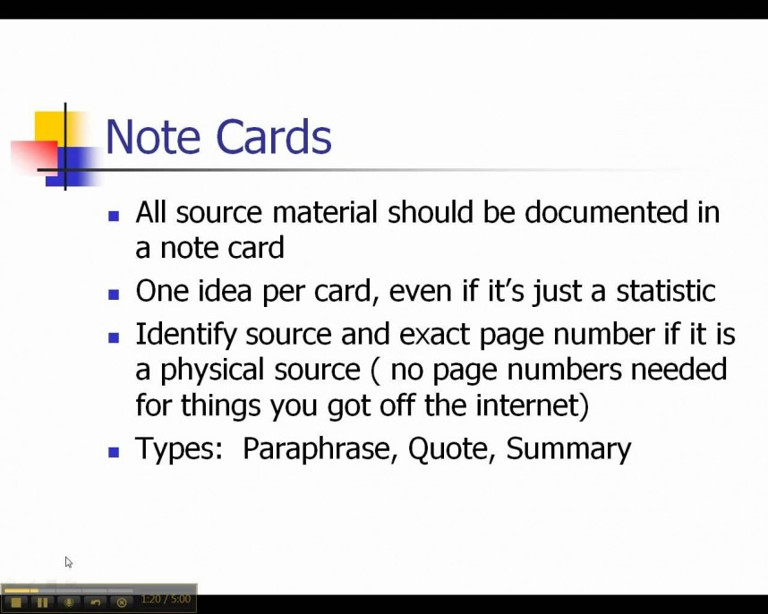 004 Research Paper Notecards For Impressive Papers How To Make A Mla Online Using