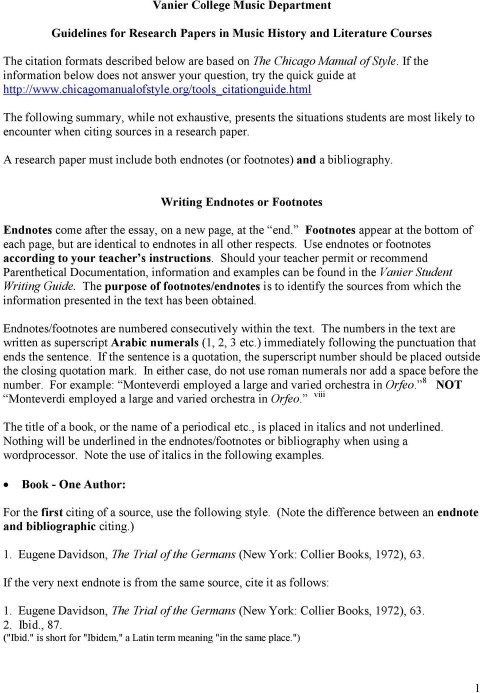 004 Research Paper Page 1 Footnotes Endnotes Formidable In How To Use And A 480