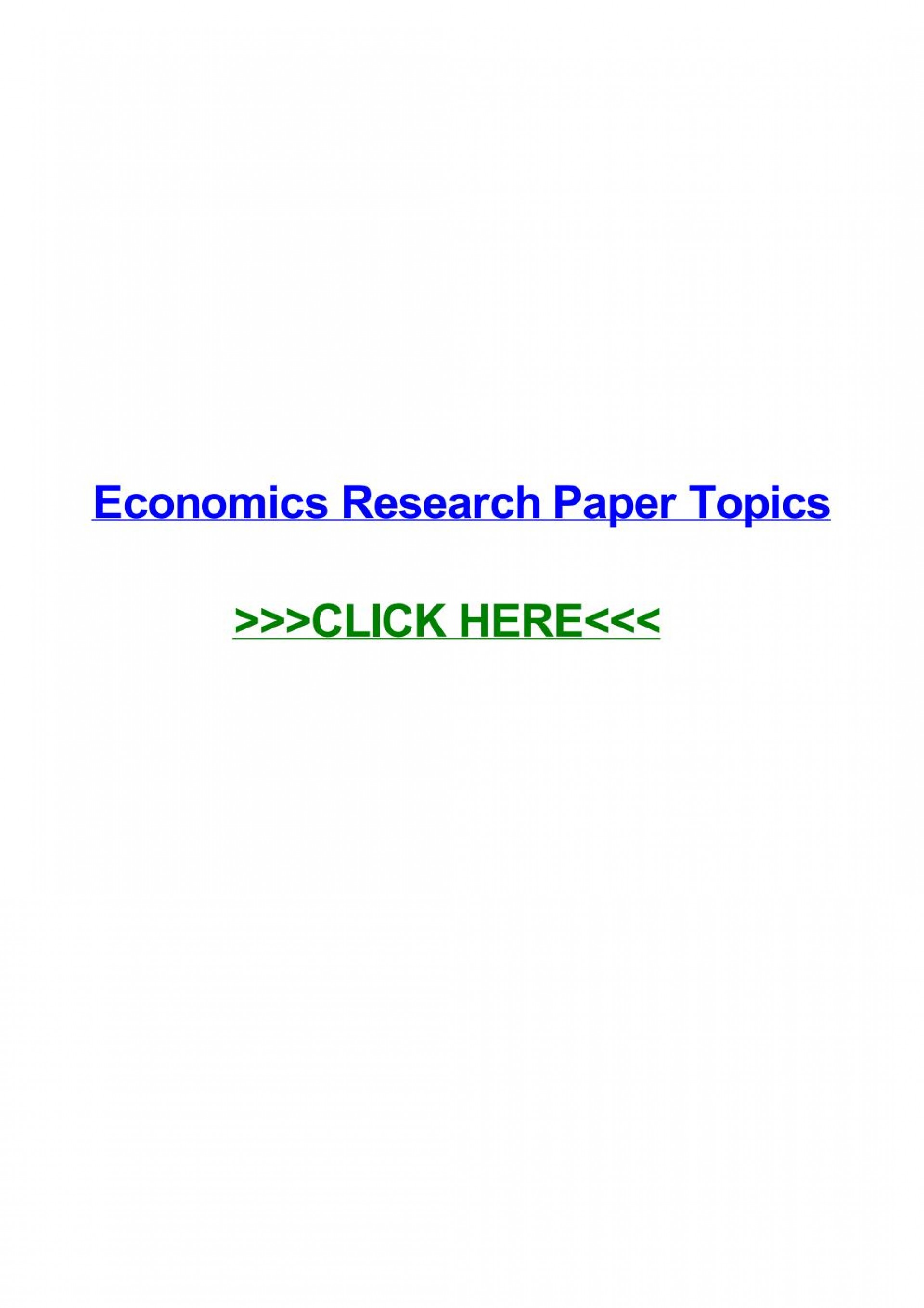 004 Research Paper Page 1 In Economics Stupendous Topics Finance Business International 1920