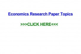 004 Research Paper Page 1 In Economics Stupendous Topics Finance Business International