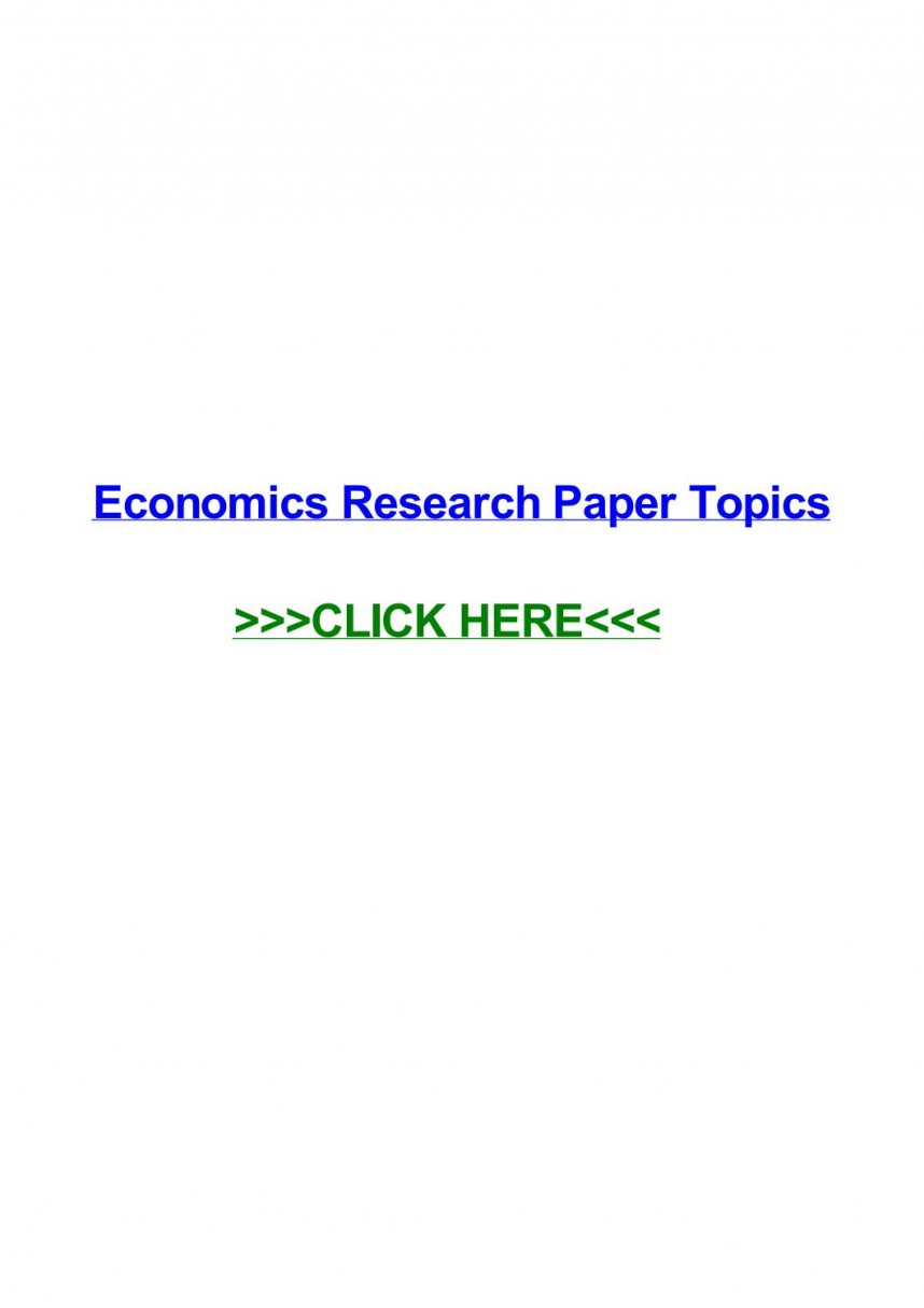 004 Research Paper Page 1 In Economics Stupendous Topics India Finance Business
