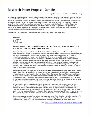 004 Research Paper Proposal Template For Beautiful A Example Of Writing 360