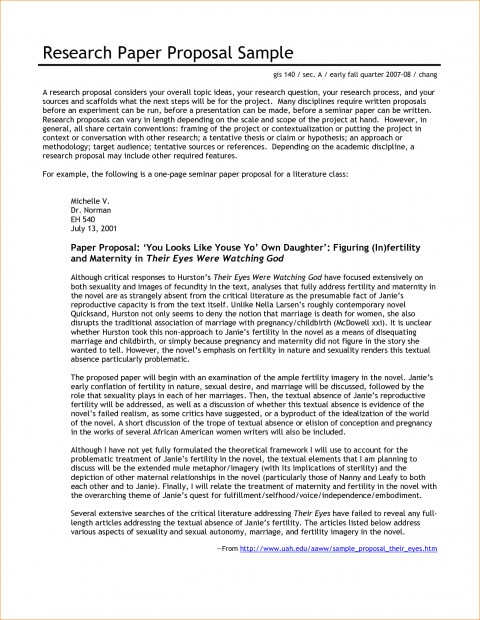 004 Research Paper Proposal Template For Beautiful A Example Of Writing 480