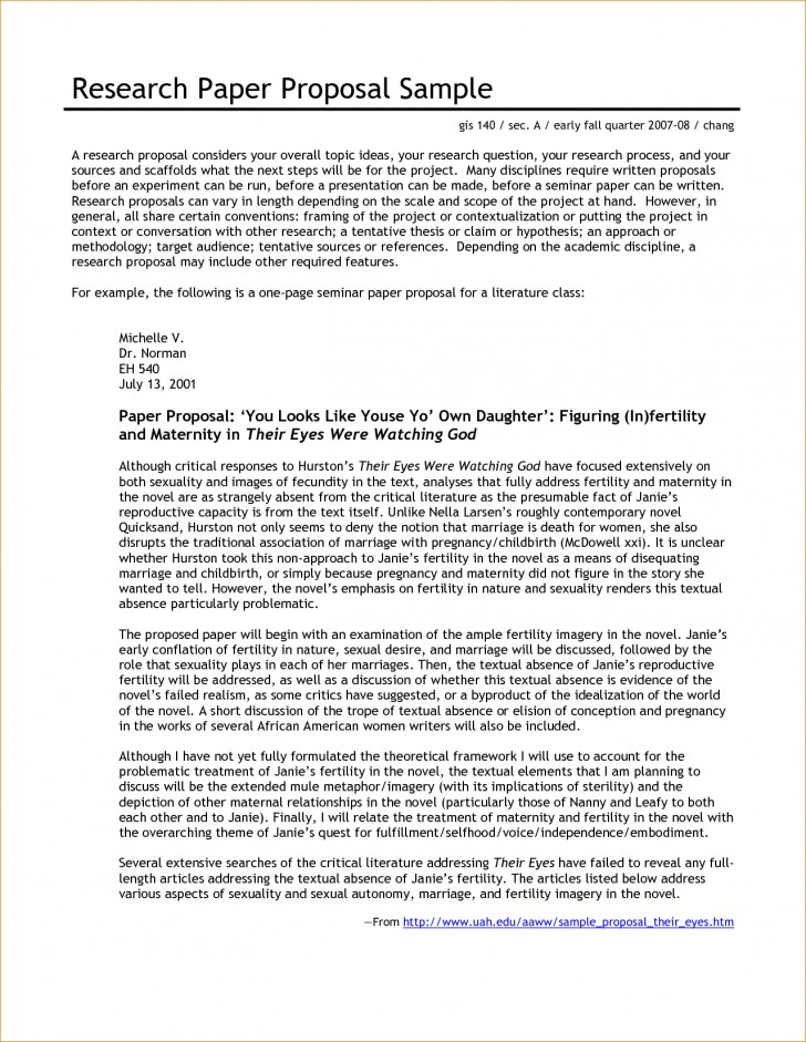 004 Research Paper Proposal Template For Beautiful A Example Of Writing 728