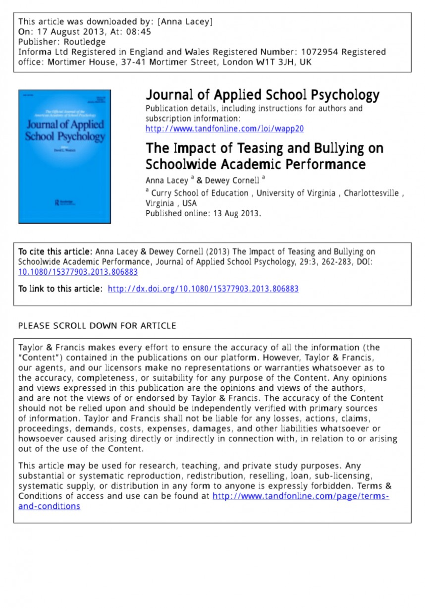 004 Research Paper Psychological Effects Of Bullying Breathtaking 868
