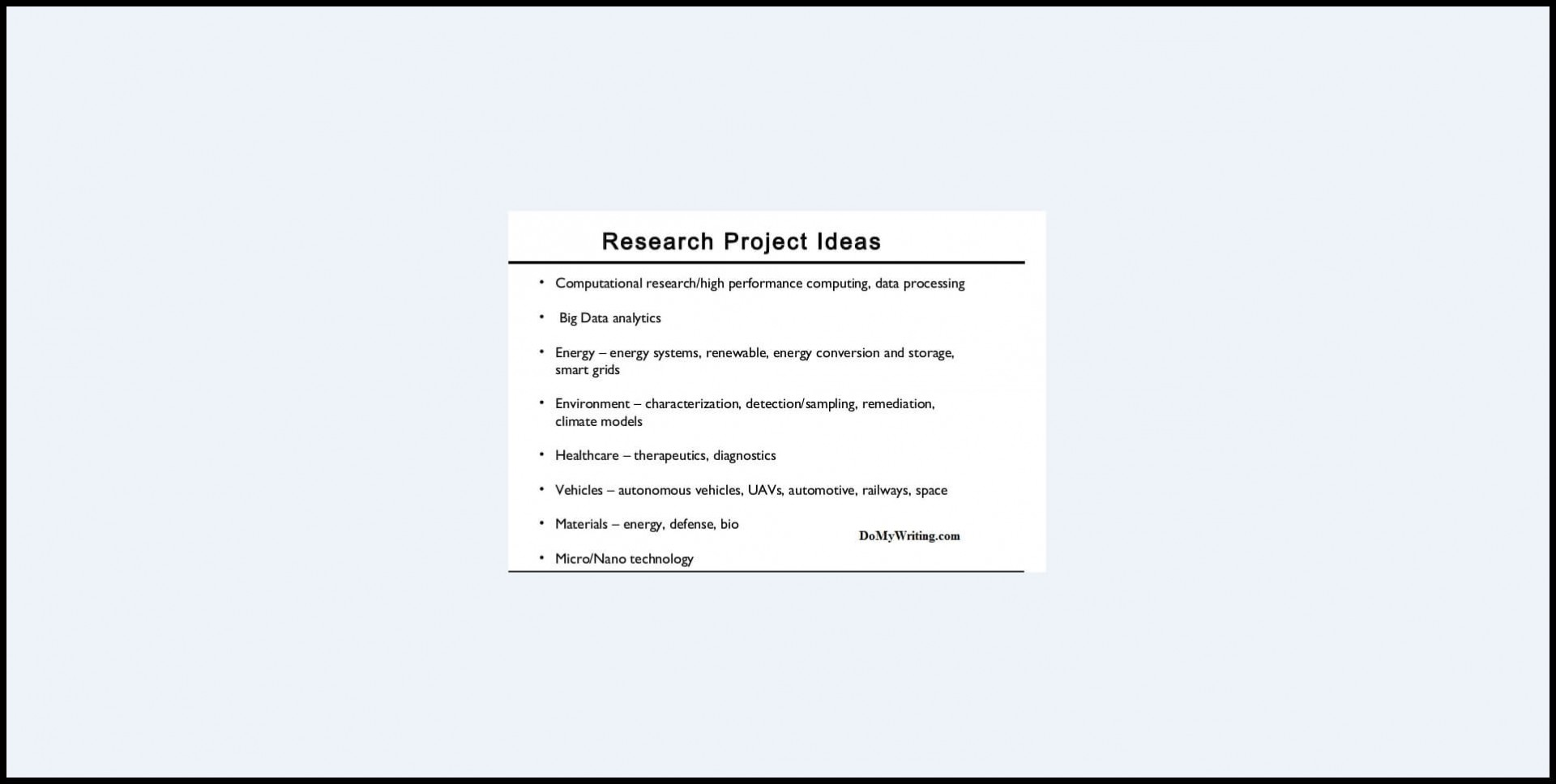 004 Research Project Ideas Paper Cool Topics To Do Wonderful A On Good Interesting 1920