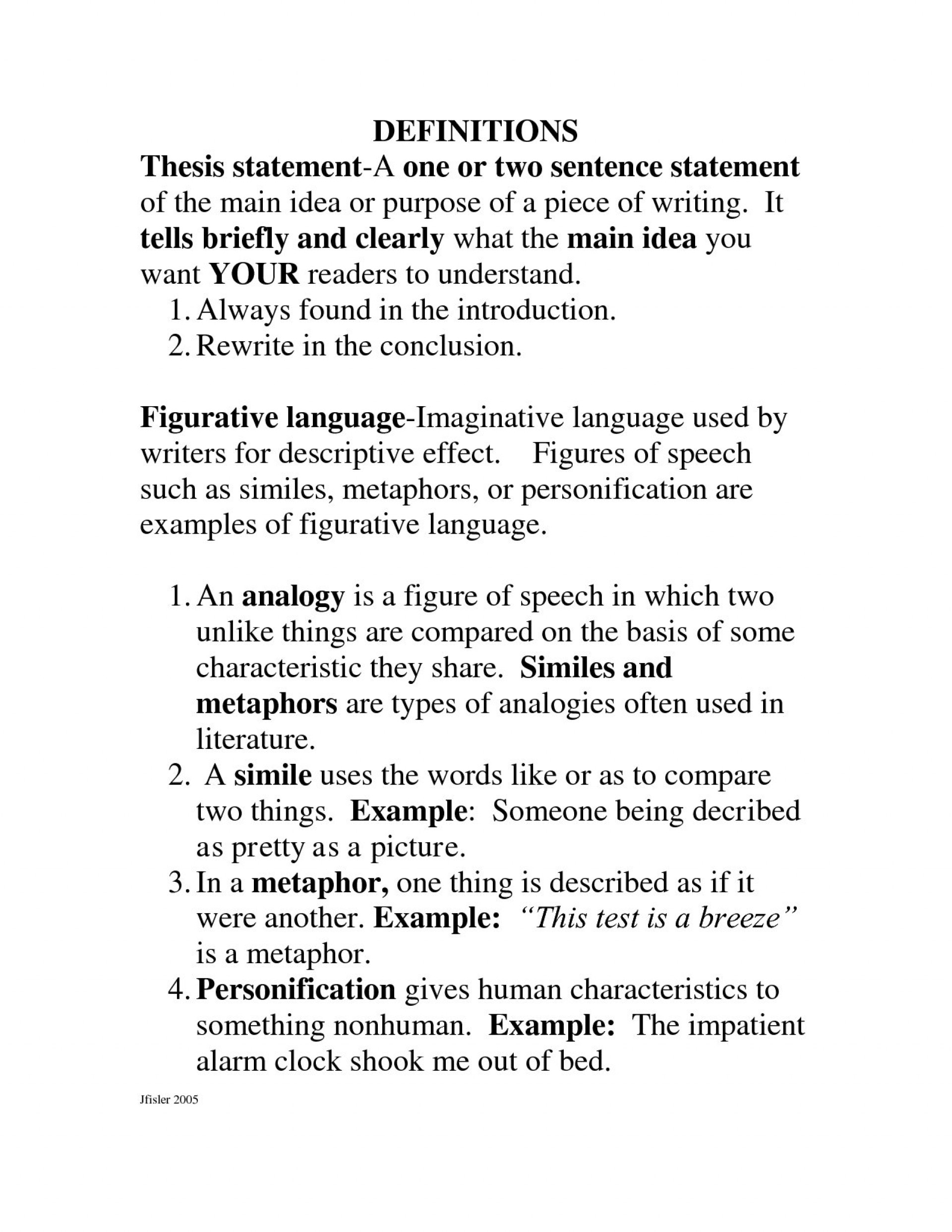 research paper define and thesis statement descriptive