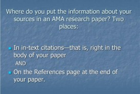 004 Where Do You Put The Information About Your Sources In An Ama Research Paper Two Places L Can I Write One Fascinating A Day 6 Page