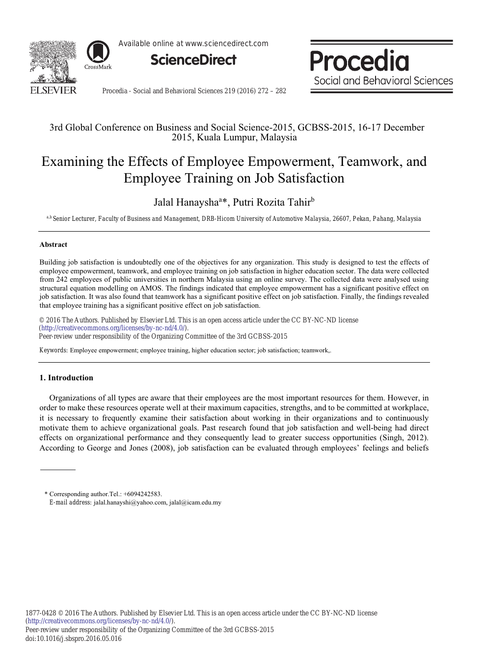 005 Abstract For Research Paper On Job Satisfaction Awesome Full