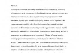 005 Abstract Research Paper About Child And Adolescent Development Wondrous Sample Pdf