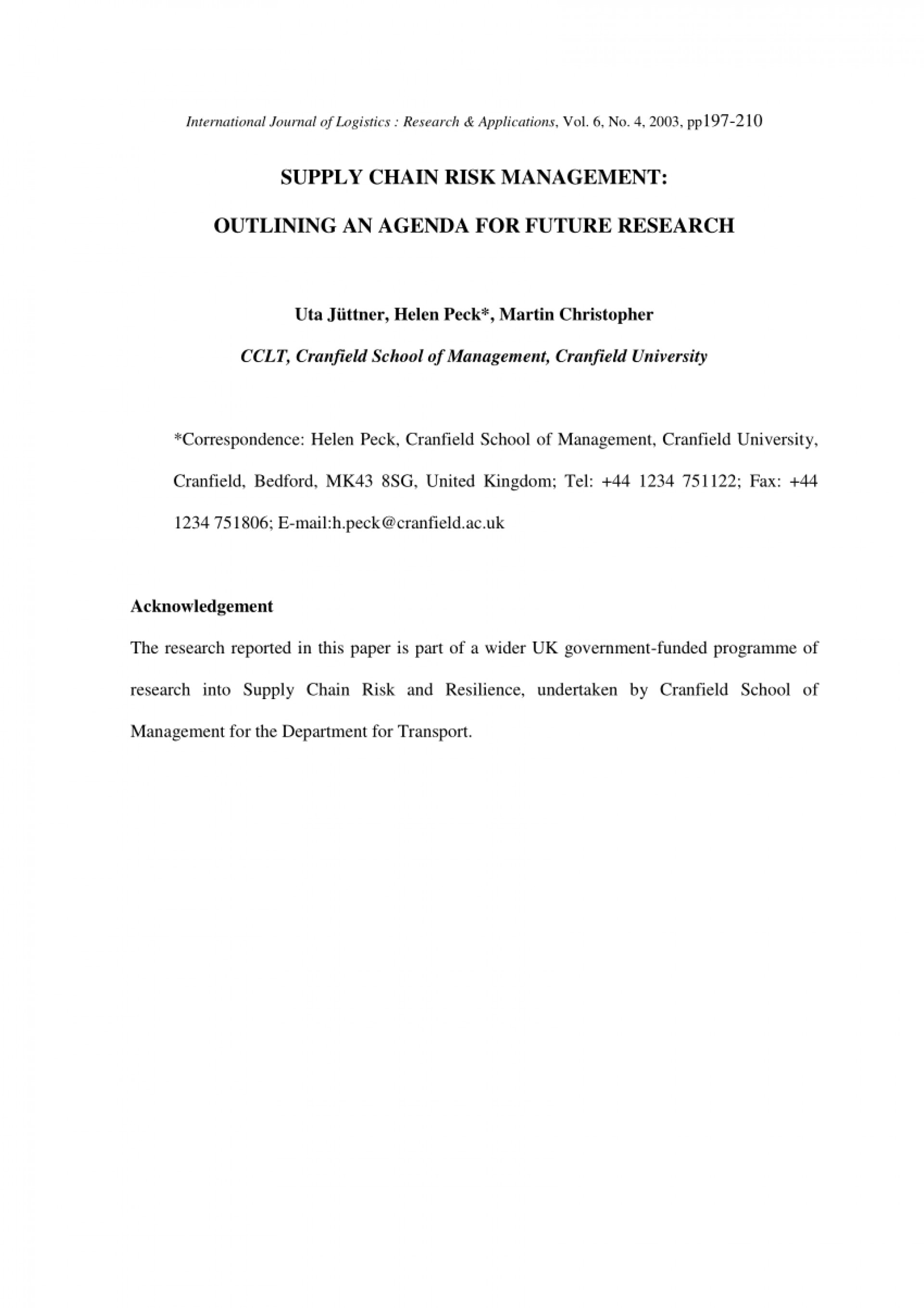 005 Acknowledgement Example For Research Paper Rare Pdf 1920