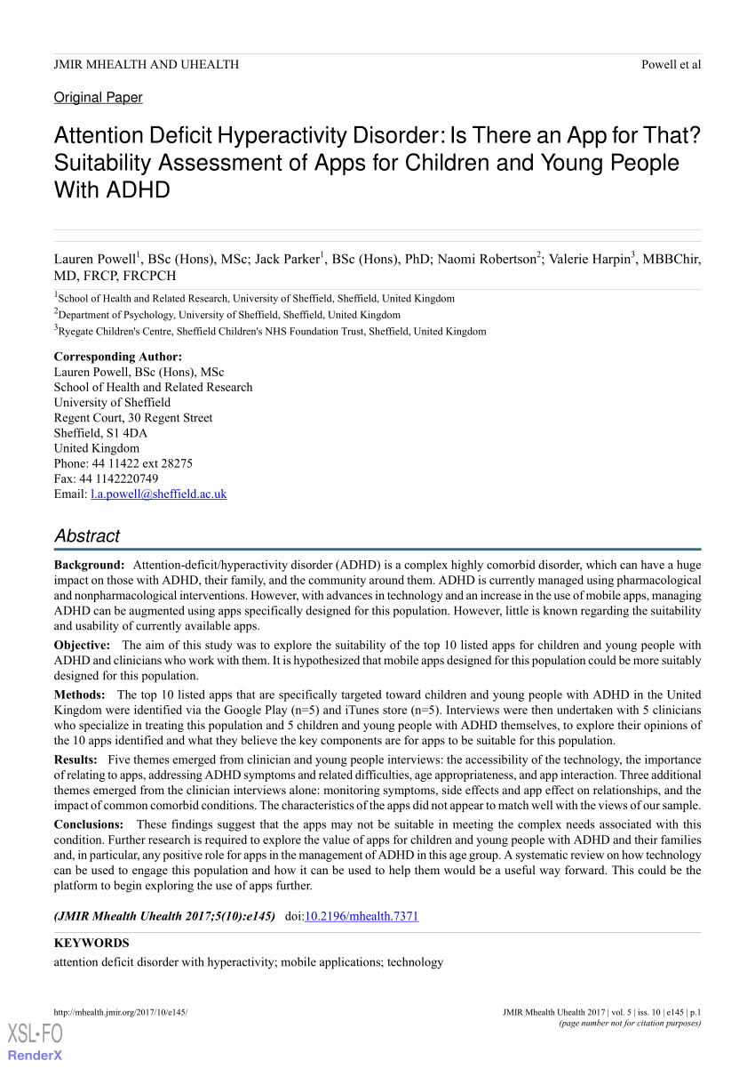 005 Adhd Research Paper Abstract Amazing